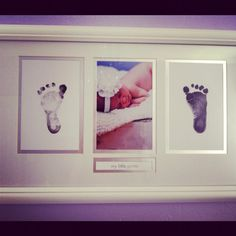 Baby prints. y'all should do this @Jessica White and @Jeremy White