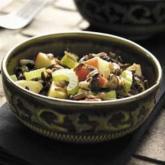 """Contest-Winning Wild Rice Apple Salad Recipe -""""We have an apple orchard in our family, so I'm always looking for ways to use the fruit,"""" writes Elaine Stichter of Milford, Indiana. """"This crisp and crunchy dish is one of my favorite salads. Sometimes I double the batch so I have leftovers!"""""""