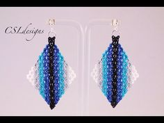 Micro macrame wavy diamond earrings - YouTube