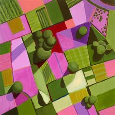 """Pink and Green Fields   archival print  http://paperwork.ugallery.com/acrylic-painting-pink-and-green-fields# 8""""x10"""" $60"""