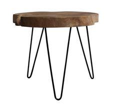 Teakroot Sofabord - Rustikt sofabord med jernstel. Dette flotte bord er lavet i genanvendt teaktræ, som udover at være rustikt og lækkert også er skånsomt ved miljøet