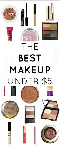 Great makeup doesn't have to cost a fortune. This post shares the BEST drugstore makeup products, and they're all under $5! | by @Ashley Brooke Nicholas at ashleybrookenicho...