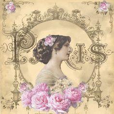 Vintage Woman Digital Collage P Free To Use  Shabby Vintage Vintage Woman