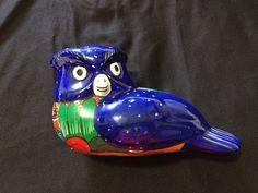 Vintage Folk Art Pottery Blue Bird/Vintage by Universalideas