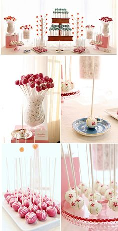 Different Ways of Displaying Cake Pops I see you have a cake pop display already pinned. Here are some ideas of different ways to display cake pops.