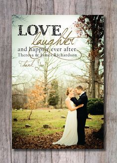 Custom Wedding Thank You Photo Card - Happily Ever After on Etsy, $15.00