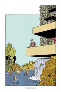 Joost Swarte - Frank Lloyd Wright, the women - Griffioen Grafiek