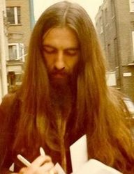 One of many George Harrison hairstyles!