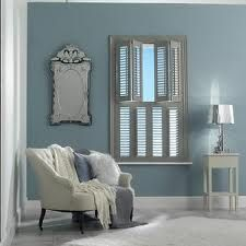 interior window shutters - perfect for my powder room Bedroom Shutters, Interior Window Shutters, Wooden Shutters, Interior Windows, Interior And Exterior, Bedroom Decor, Master Bedroom, Indoor Shutters, Interior Decorating