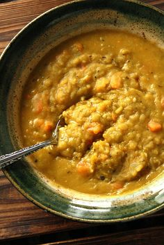 Thick and Hearty Split Green Pea Soup