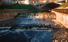 New free stock photo of landscape water rocks