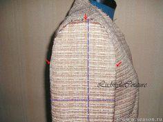 Клуб любителей шитья Сезон - сайт, где Вы можете узнать все о шитье - Метод втачивания рукава в жакет