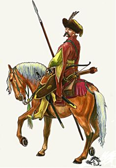 Lekki jeździec/light cavalry- 17 th century