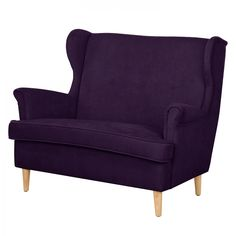 Sofa Piha (2-Sitzer) - Microfaser - Violett