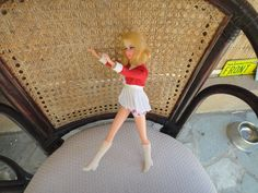 Vintage Barbie MOD 1960s Francie Complete Cheerleader Dress & Boots Twist and turn by MilliesAttique on Etsy