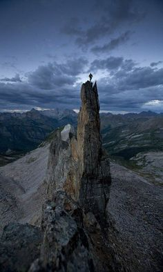 ✯ Extreme - by David Clifford✯. Amazing and INSANE!!  This pinnacle exists in Yosemite Nat Park. A guy fell off it a couple of days ago and broke his back. the park Service had to rescue him by helicopter.Either very brave or very stupid.