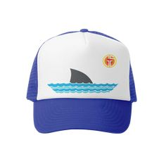 Sharky Kids Trucker Hats | baby, toddler, youth sizes | Grom Squad USA best fitting kids trucker hats