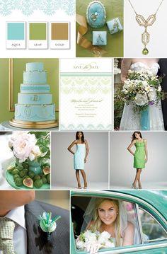#Bodas en verde y azul / Green and blue #wedding inspiration