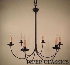 You cant beat simple love these lines lighting pinterest j arm chandelier 6 arm classically farmhouse primitive this simple chandelier is large enough for a large kitchen or dining room table or medim sized aloadofball Choice Image