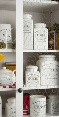 I want every one of these Maxwell & Williams canisters, Love them! Canisters, Kitchen Ideas, Shabby Chic, Collection, Products, Container, Gadget, Kleding, Jars