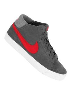 Nike 6.0 Blazer Mid Lr Shoes Anthracite/White/Gym Red Sz 13 by Nike. $90.00