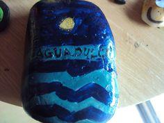 pisapapeles de piedra del mar  recuerdo de aguadulce(almeria)españa