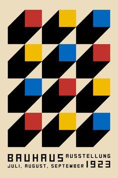 B o o k s Bauhaus Exhibition Poster - Vintage Geometric Mid Century Art, Contemporary Art, Abstract Large Abstract Wall Art, Large Wall Art, Retro Poster, Vintage Posters, Graphic Design Posters, Graphic Design Inspiration, Art Bauhaus, Bauhaus Design, Grand Art Mural