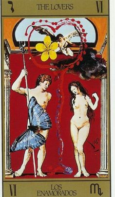 Tarot Cards The Lovers | From The Dali Tarot Deck