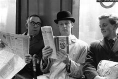 Fox photographer George Freston poses as a commuter on the tube, reading a copy of D H Lawrence's novel Lady Chatterley's Lover, on the day the book went on general sale, after a jury at the Old Bailey decided that the book was not obscene, after a 33-year old-ban, November 1960.