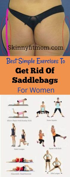 Saddlebags disfigure the shape. To get rid of saddlebags, check out these best exercises. #saddlebags