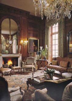 Luxe brown living room decor