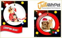 Let your dog know exactly how much he means to you with these customized Christmas ornaments! $9.99 with FREE SHIPPING. You can't beat that :)