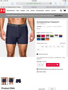 """VERY SPECIFIC STYLE & MATERIAL!!! UA original series 6"""" boxerjock only. Any color XL"""