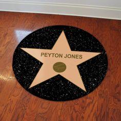 Hollywood Star Floor Decal