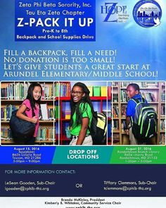 ZPack It Up is Back!   Donate school supplies for Baltimore City students today so they can prepare for tomorrow! #ZPackItUp @TauEtaZeta
