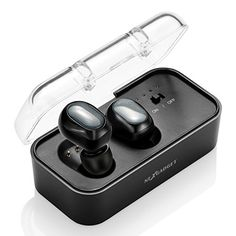 NEXGADGET Wireless Earbuds, Truly Wireless Bluetooth Headphones with Charging Dock, Stereo/Mono Mini In-Ear Bluetooth Headset with Built-in Mic, Echo Cancellation & Noise Reduction Mono Mini, Noise Cancelling Headset, Technology Gadgets, Bluetooth Headphones, Cell Phone Accessories, Android Phones, Iphone, Noise Reduction, Connection