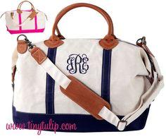 tinytulip.com - Monogrammed Classic Satchel Duffle Weekender Bag, $94.50 (http://www.tinytulip.com/monogrammed-classic-satchel-duffle-weekender-bag)