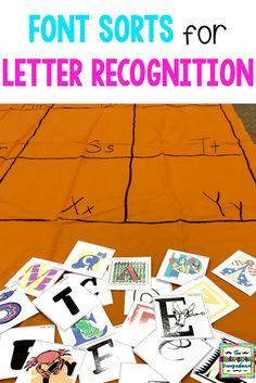 Font Sorts For Letter Recogntion   Smedley's Smorgasboard of Kindergarten   Bloglovin'
