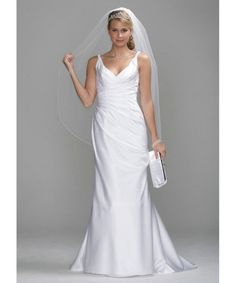 YES! SATIN SLIM GOWN WITH TWIST STRAPS AND SIDE DRAPE STYLE SAS1200 [SAS1200] : fancybridals.com