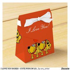 I LOVE YOU BOXES - CUTE PUPS IN LOVE!