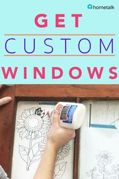 I love the idea of a vintage, salvaged window being transformed into custom art work like this! Looks like a soothing craft project to work on, like coloring books.