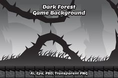 Creepy Dark Forest Game Background by Heavtryq Design on @creativemarket