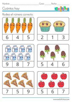 Preschool Writing, Numbers Preschool, Preschool Phonics, Kindergarten Math Worksheets, Preschool Learning Activities, Math For Kids, Homographs, Counting, Free Images