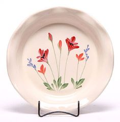 Red Poppy Ceramic Pie Plate - Made in the USA