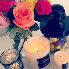 My kinda style #abode #abodeAustralia #candles #canister #skull #roses