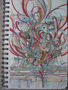 This is the first photo for my gel pen doodles set - added to The Joy of Sets Group.  This first one was done in March 2000 while on a visit to see my family in Houston.  I had a new sketchbook and new gelpens and free time to draw while sitting around A great piece for a beginner artist! and it's WONDERFUL for the price!
