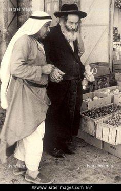 Arab And A Jew In Mea Shearim Jerusalem Israel