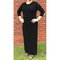 Black Slinky Dress - Long Length - FrouFrou Collection