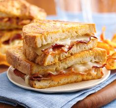 Beer Battered Bacon Grilled Cheese Sandwiches