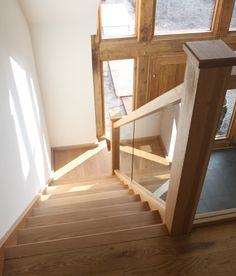 Staircase Images of our Staircases for your own Staircase ideas - StairBox Glass Stair Balustrade, Timber Staircase, New Staircase, Staircase Ideas, Modern Staircase, Staircase Design, Entryway Stairs, Oak Stairs, Glass Stairs